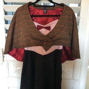 Dr. Who 11th Edition Dress  Size M  Cape Size S/M